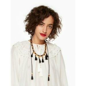 Kate Spade Moroccan tile statement necklace